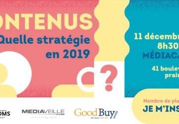 Conférence le 11 décembre à Nantes: Quelle stratégie de contenus adopter en 2019?