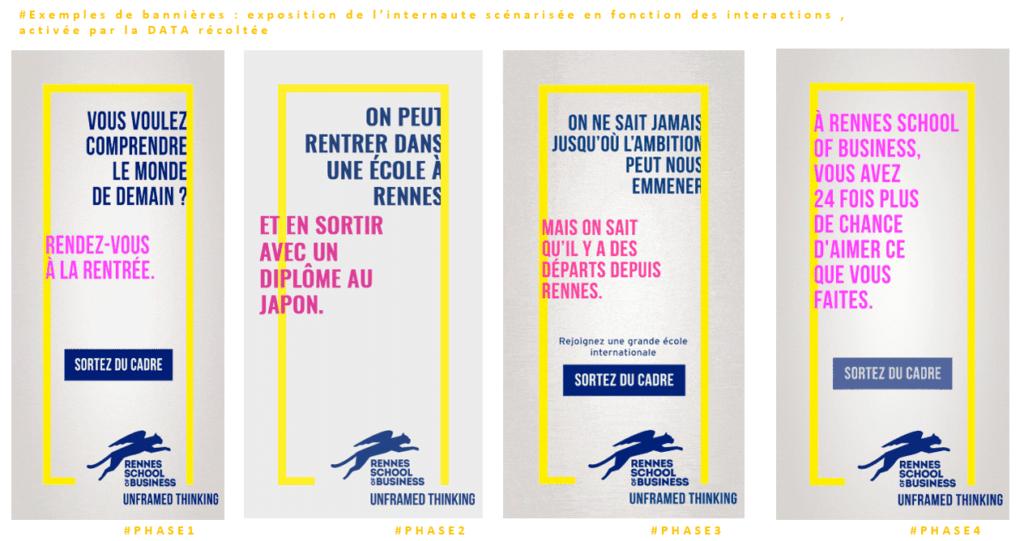 Exemple de bannières pour Rennes School of Business