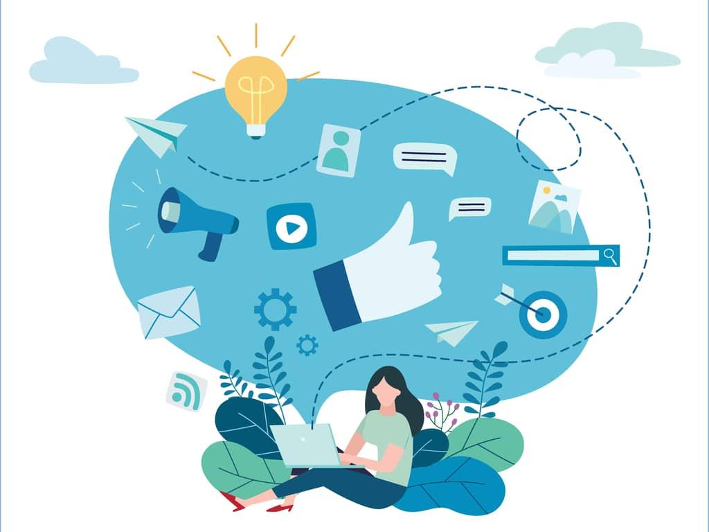 Illustration du concept de publicité programmatique
